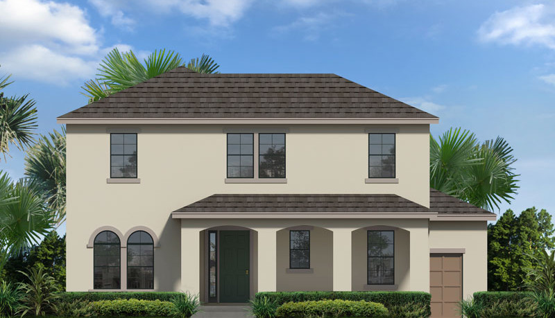 Jesup II new home exterior, elevation A
