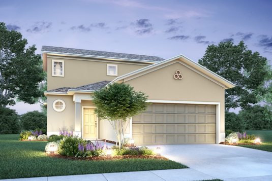 Newton II Floor plan elevation B built in the Mirror Lake Village Community in Fruitland Park, Florida.