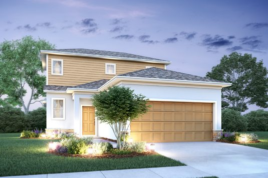 Newton II floorplan Elevation c built at Mirror Lake Village community in Fruitland Park, Florida.