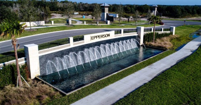 View of Epperson Community currently in development in Wesley Chapel, Florida.