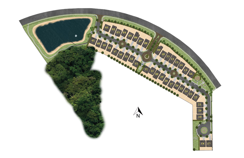 Rendering of available lots for new homes located at Greenville Commons in Casselberry FL.