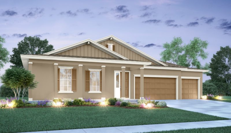 Abby floorplan elevation D built at the epperson community in wesley chapel, florida