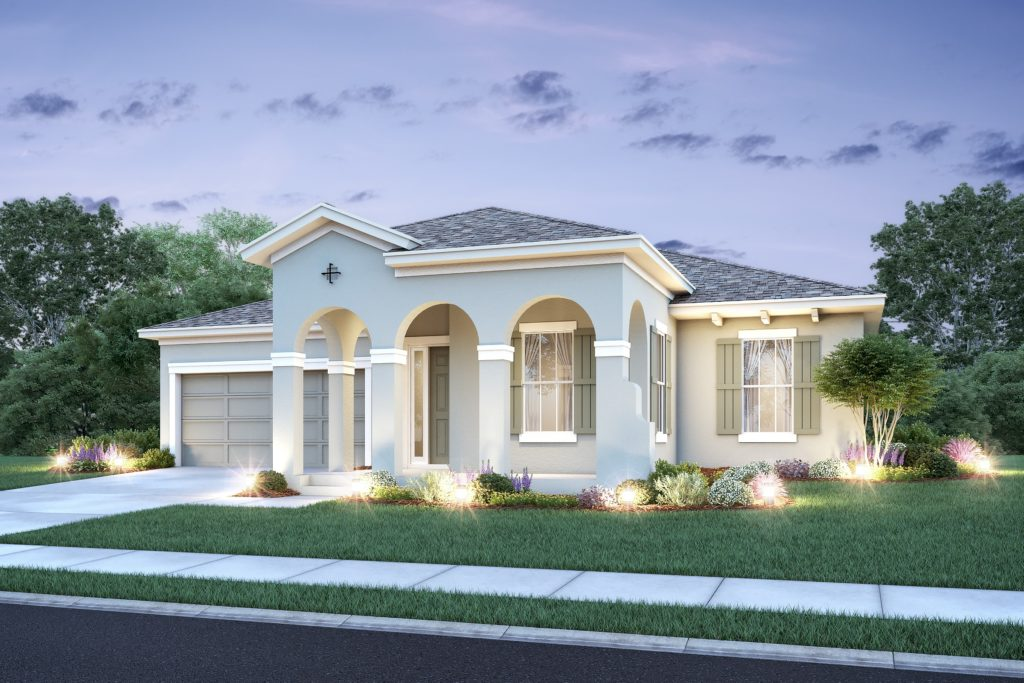 Platte Model built at Windy Ridge in Grand Island, Florida as well as in Parkview at Lakeshore in Kissimmee, Florida