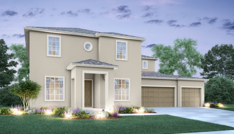 Santa Fe II floorplan elevation a built at the epperson community in wesley chapel, florida