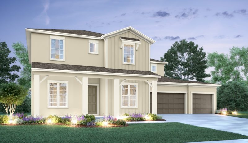 Santa Fe II floorplan elevation b built at the Epperson community in wesley chapel, florida