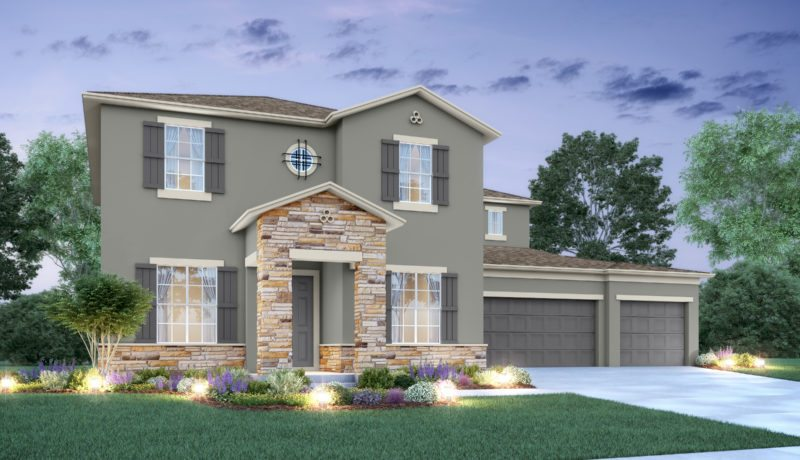 Santa Fe II floorplan elevation c built at the Epperson community in wesley chapel, florida