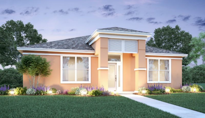 Magnolia floorplan elevation a built at the Parkview at lakeshore community in kissimmee, florida.