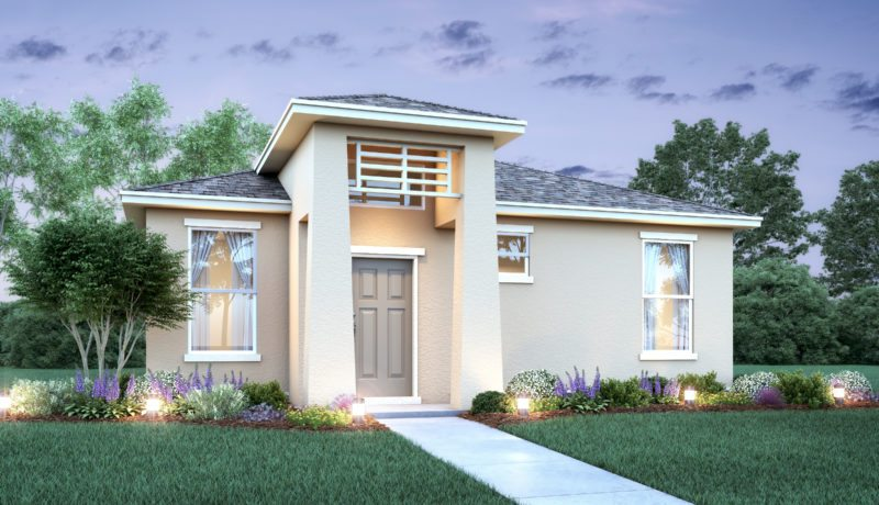 Rendering of the model of a home at Lakeshore at Parkview in Kissimmee, FL.