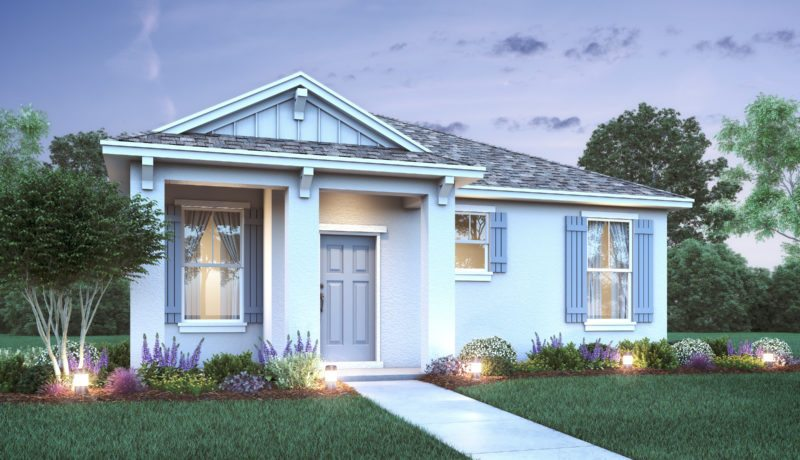 Model home at Parvkview at Lakeshore. This model represents the B elevation of the floor plan that's available.