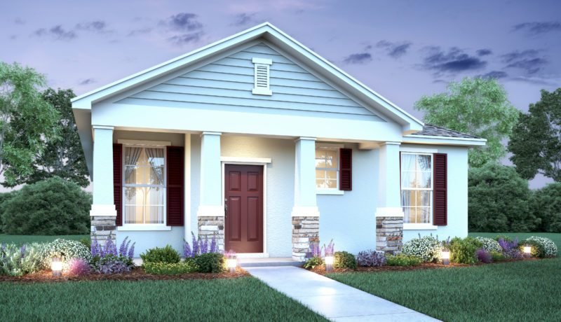 Model rendering of the Pinehurst home at Lakeshore at Parkview in Kissimmee, FL.