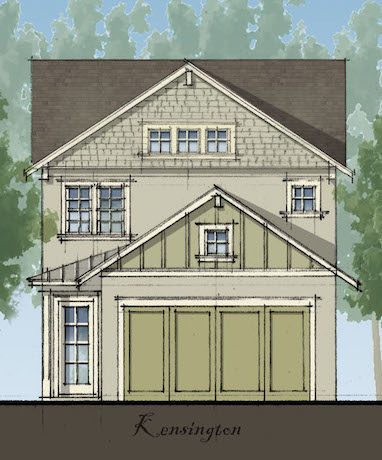 Artist drawing of the Kensington floor plan; a new floor plan available at Chelsea Park in Davenport, FL
