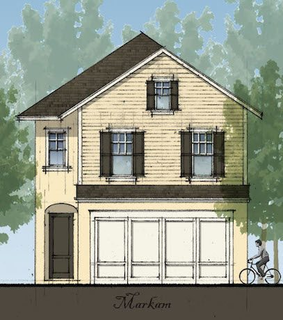 Drawing of home built by Avex Homes in Central Florida