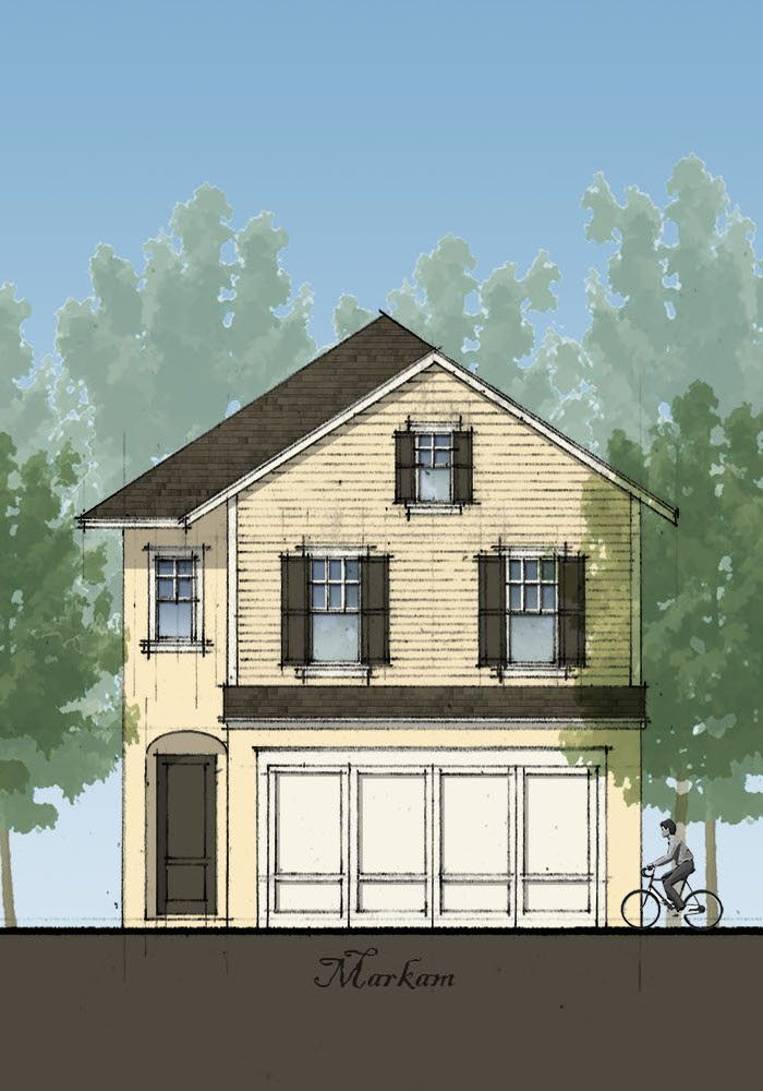 artist's rendering of the markham floor plan now available at