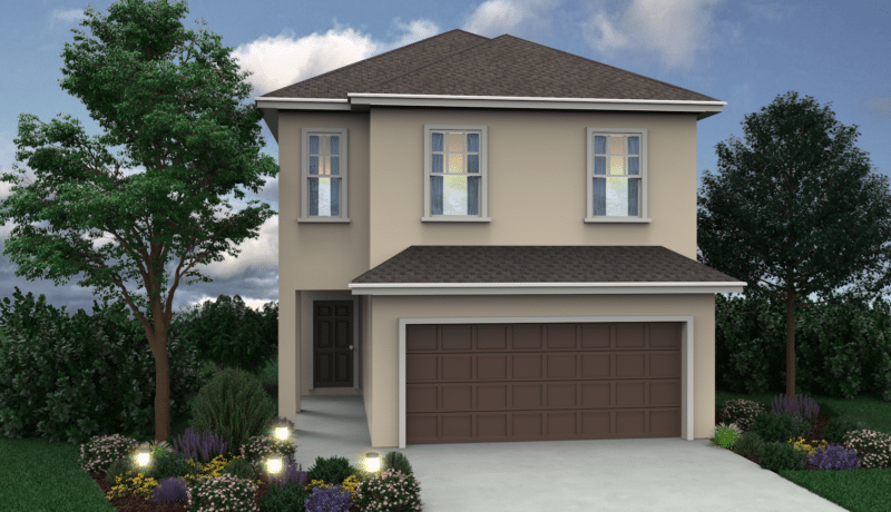 Here is an artist's rendering of the Wellington floor plan available at Chelsea Park in Davenport, FL.