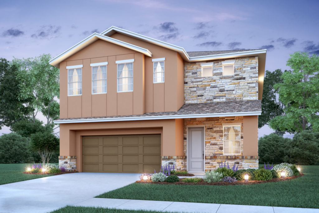 This new home by Avex Homes in Casselberry, FL has 2 floors, a 2 car garage and architectural design that is unmatched.