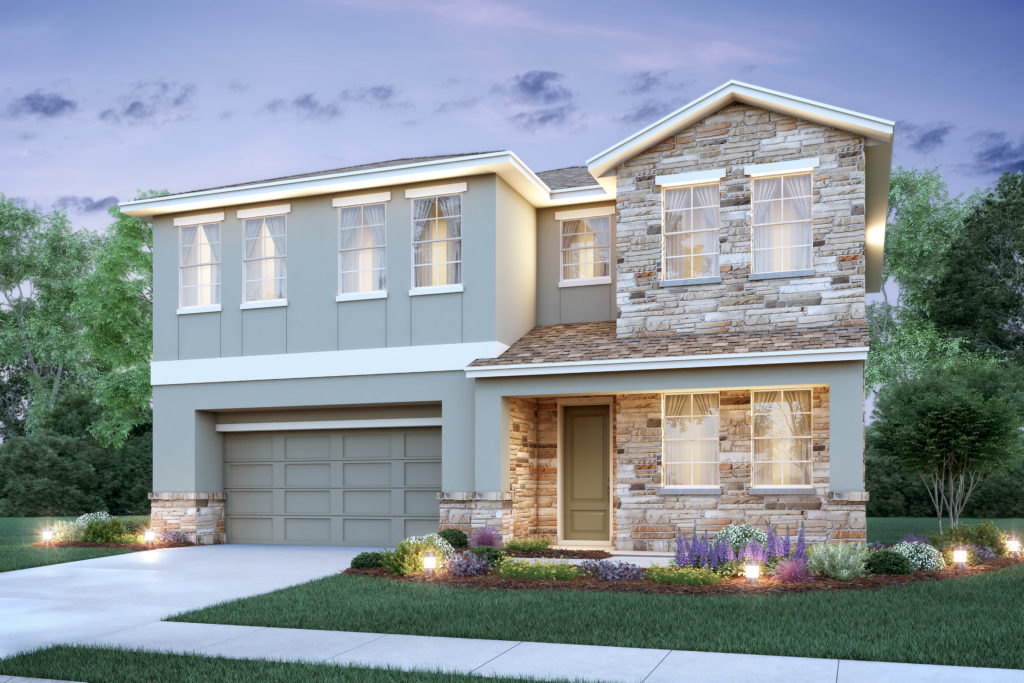This lovely 2 story home is a visual model of the Charlotte floor plan available at Greenville Commons as a new home to be built just for you by Avex Homes.