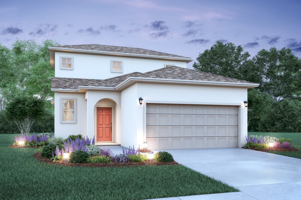 A new home built with garage for 2 cars and a breathtaking entry perfect for any family moving into a new home in Ocoee, FL.