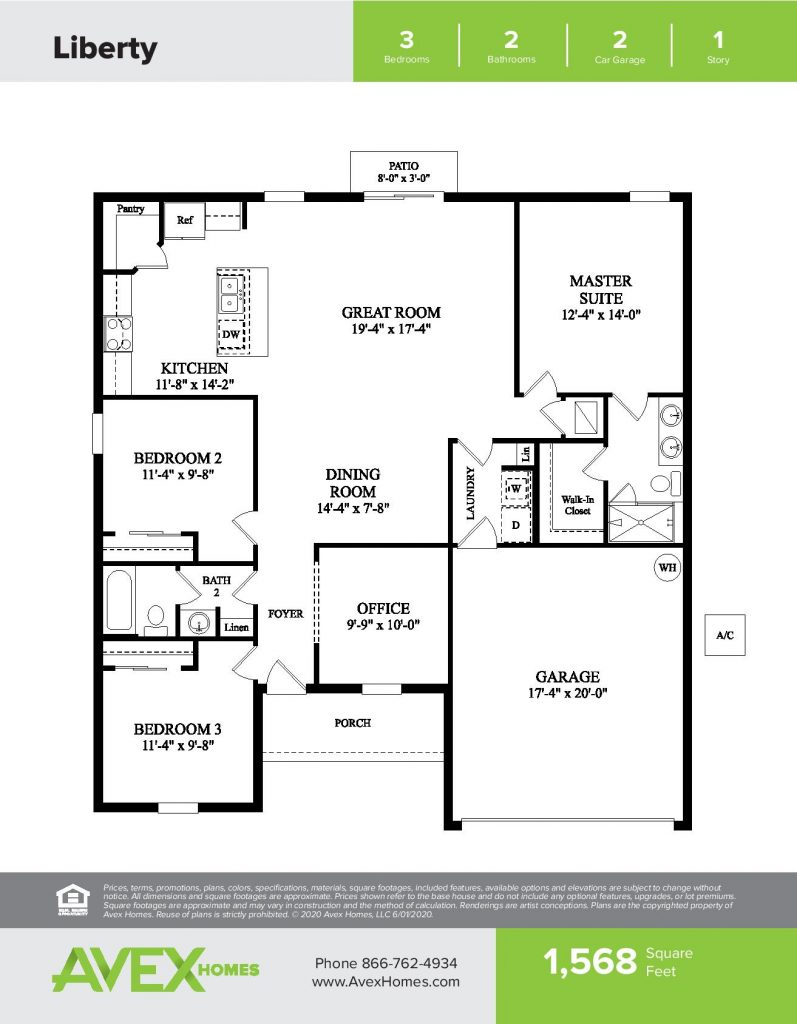 Liberty - Floor-Plan-Drawing-by-Avex-Homes