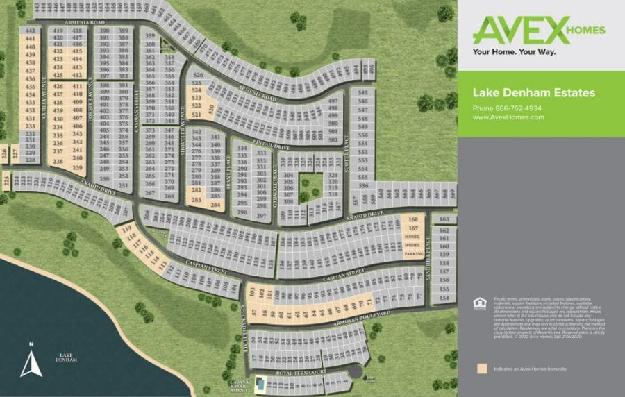 lake-denham-estates-Leesburg-FL-site-map-avex-homes